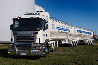 Irwin stock feeds truck